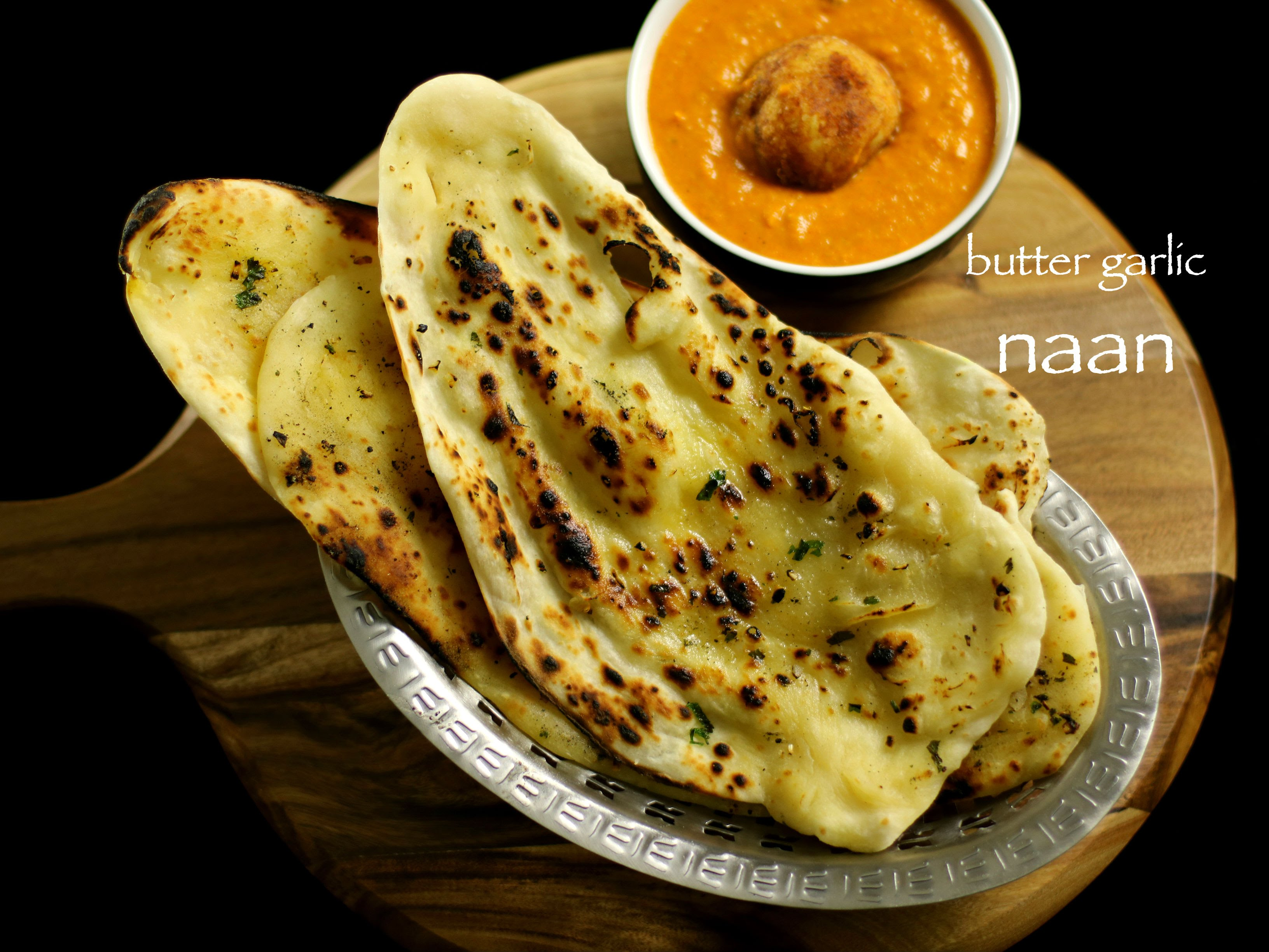 Garlic Butter Naan Recipe On Tawa Stove Top Cookeryshow Com