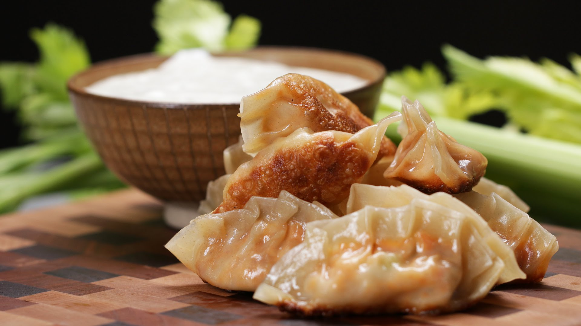 Buffalo Chicken Potstickers — CookeryShow.com