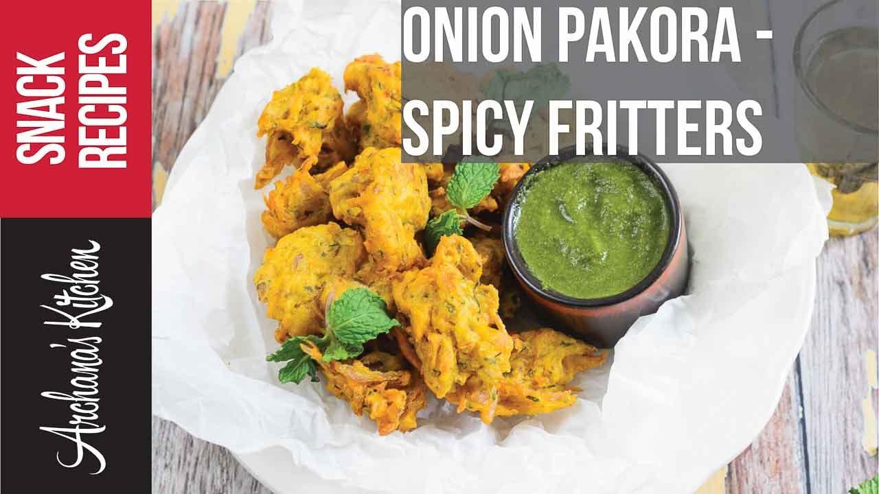 Onion Pakoda Recipe - Tea Time Snacks by Archanas Kitchen ...