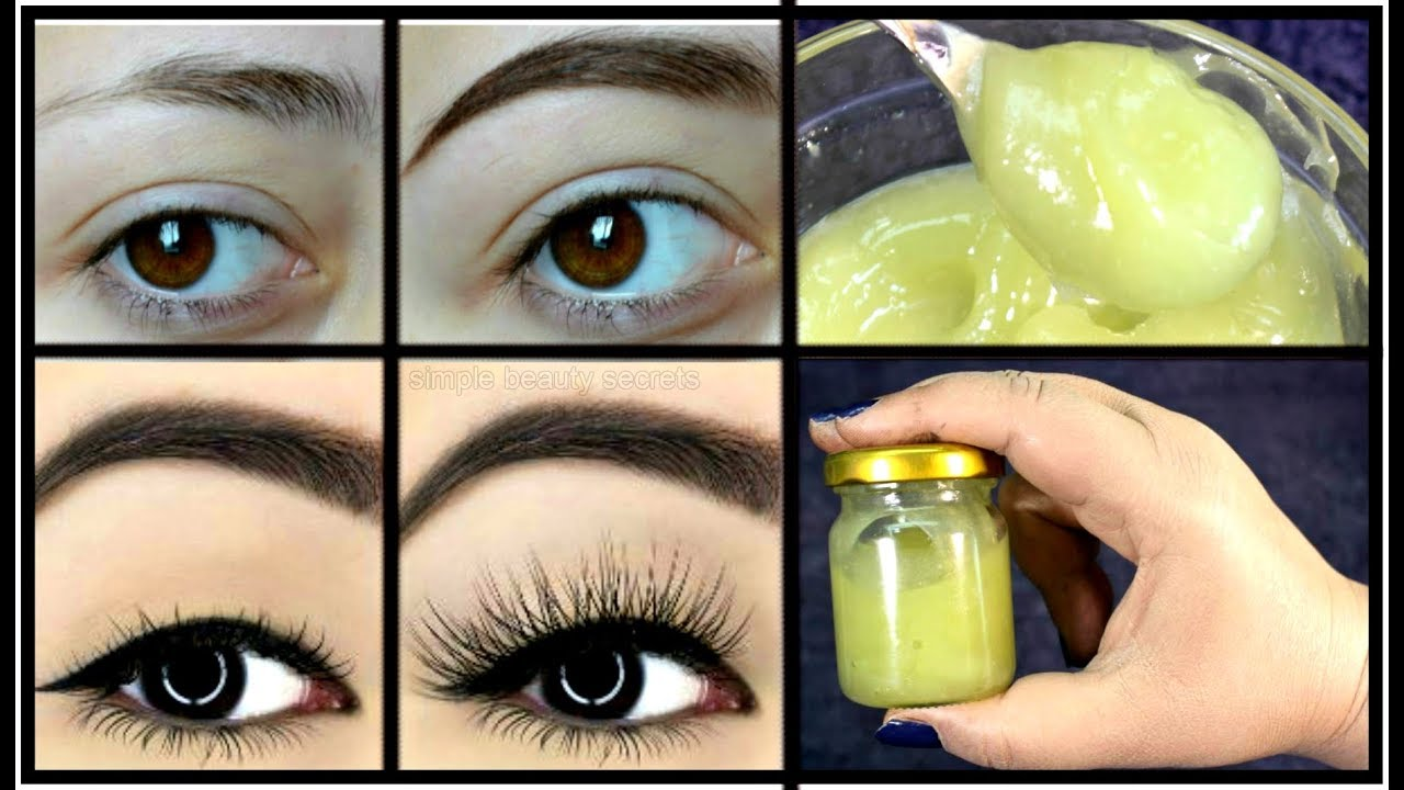 Homemade Serum To Grow Thicker Eyebrows & EyeLashes In 3 ...